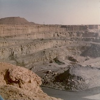 Arlit - The open pit Uranium Mine at Arlit