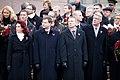 Ministru prezidents Valdis Dombrovskis vēro Rīgas garnizona vienību militāro parādi pie Brīvības pieminekļa (8174977001).jpg