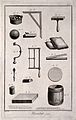 Mirrors; tools and equipment for silvering glass. Engraving Wellcome V0024065EL.jpg