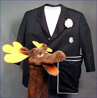 Captain Kangaroo - Mr. Moose and the Captain's original navy blue jacket at the Smithsonian Institution