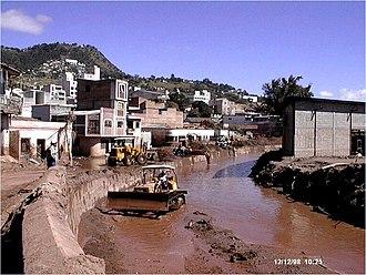 Hurricane Mitch - Cleanup in Tegucigalpa
