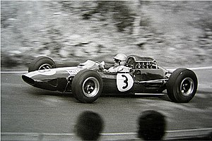 1965 German Grand Prix - Gerhard Mitter in a Lotus 25.