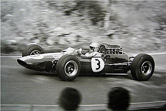 Gerhard Mitter - Gerhard Mitter driving a Lotus 25 in 1965 at the Nürburgring