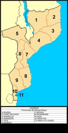 Distritos de Moambique por provncia  Wikipdia a enciclopdia