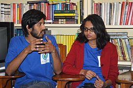 Moheen Reeyad & Tilottama Titlee at BNWIKI12 celebration in Chittagong (01).jpg