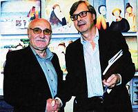 Battista Mombrini mit dem Kunstkritiker Vittorio Sgarbi