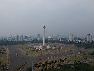 square in Jakarta, Indonesia