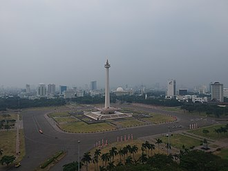 Merdeka Square, Jakarta - A view of Merdeka Square with National Monument standing in the middle of the Square.