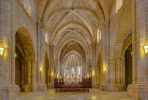 Santa María de la Oliva - Interior of La Oliva Abbey.