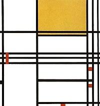 Mondrian, Compositie met zwart, wit, geel en rood.jpg
