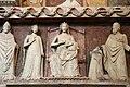 Monumento funebre dell'abate francese tommaso gallo, 1350 ca. 07 madonna in trono, tre santi e l'abate offerente 02.jpg