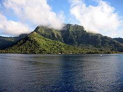 Moorea von See aus gesehen