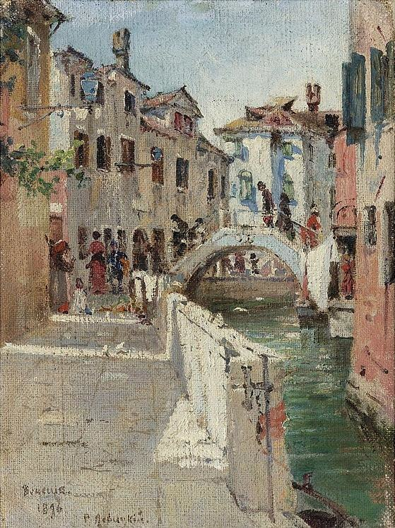 Morning Impression along a Canal in Venice