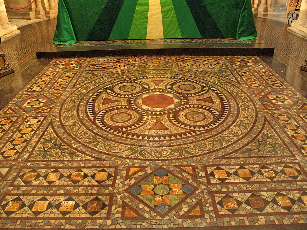 File Mosaic Floor Norwich Cathedral Jpg Wikimedia Commons