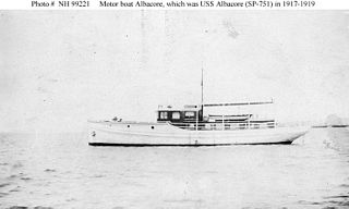 USS <i>Albacore</i> (SP-751) United States Navy patrol vessel in commission from 1917 to 1919