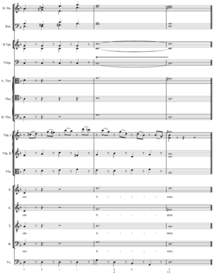 Reduction (music) - Image: Mozart's Lacrimosa full end