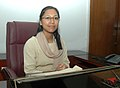 Ms. Agatha Sangma taking charge as the Minister of State for Rural Development, in New Delhi on June 02, 2009.jpg