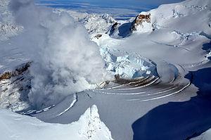 Fumarole - Fumaroles on Mount Redoubt in Alaska