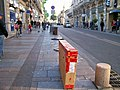 My boxed bike in Avignon (7199914874).jpg