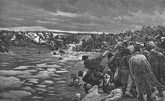 Battle of Berezina - Image: Myrbach Crossing of the Berezina