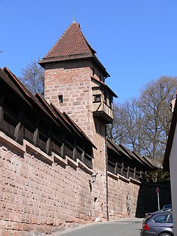 Nürnberg Neutormauer Grünes I Stadtseite