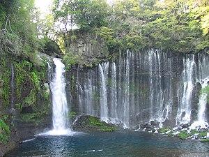 Fujinomiya, Shizuoka - Image: N2 Shiraito Falls 2
