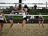 NCAA beach volleyball match at Stanford in 2016 (26474511995).jpg