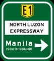 NLEX Manila Entrance Advance Sign (turn right).png