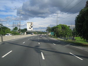 North Luzon Expressway - Southbound lane of NLEx in Barangay Taal, Bocaue