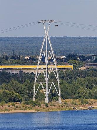 Nizhny Novgorod Cableway - Image: NN Bor Volga Cableway 08 2016 img 11