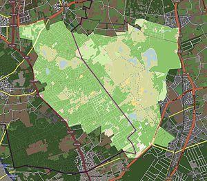 De Zoom – Kalmthoutse Heide - Image: NP De Zoom Kalmthoutse Heide Kaart