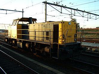 Trains in the Netherlands - Dutch Railways 6400 Class diesel locomotive at Amersfoort station