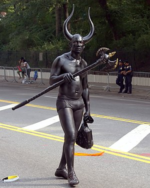 Devil in popular culture - A man dressed as the devil at New York City's West Indian Day Parade.