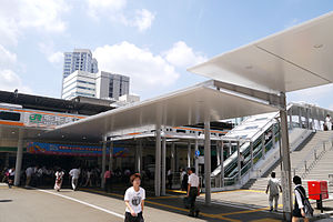 Nakano Station (Tokyo) - The north entrance to Nakano Station in July 2012