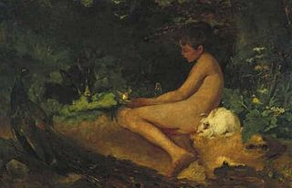 Naked Figure (Boy) in a Forest
