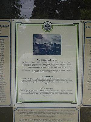 1887 Nanaimo mine explosion - Image: Nanaimo explosion mem 2
