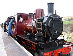 Narrow gauge Polish engine at new home on South Tyndale Railway.jpg