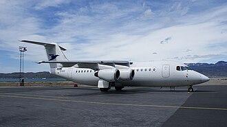 Atlantic Airways - Avro RJ85 at Narsarsuaq Airport, Greenland
