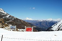 Nathu La, a mountain pass in the Himalayas on the Indo-China Border.jpg
