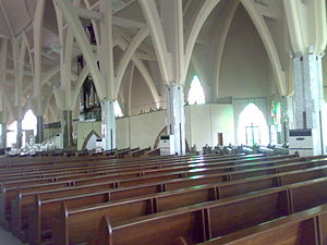National Church of Nigeria - Arches seen in the church interior