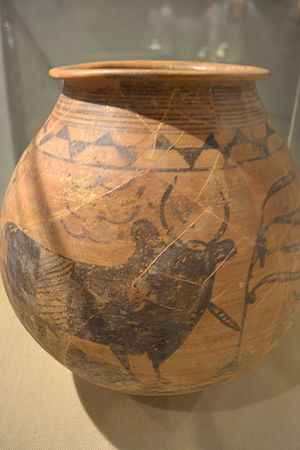 Nausharo - Naushahdu Matka, a jar made around (2700 - 1800 BC) found in Nausharo