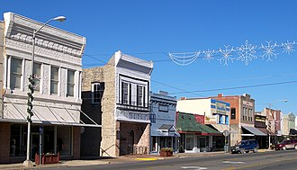 National Register of Historic Places listings in Grimes County, Texas - Image: Navasota commercial historic district 2008