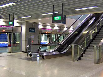 Punggol MRT/LRT station - NEL Platform of Punggol MRT station