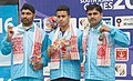 Neeraj Kumar of India won Gold Medal, Gurpreet Singh of India won Silver Medal and Mahender Singh of India won Bronze Medal in the 25m Standard Pistol Men's Individual event of Shooting, at the 12th South Asian Games-2016.jpg