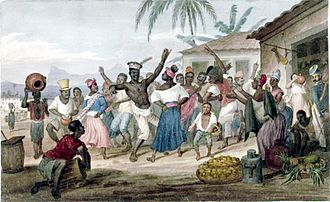 Afro-Brazilians - Afro-Brazilians dancing a jongo, c. 1822