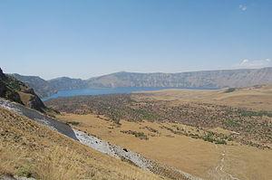Lake Nemrut - The crater of Volcano Nemrut.