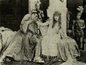 Nero (1922 film) - Jacques Grétillat as Nero with Violet Mersereau during the film.