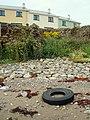 New Flats and Ruins at Port Pier - geograph.org.uk - 924912.jpg