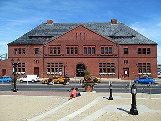 New London Union Station railway station in New London, Connecticut, United States