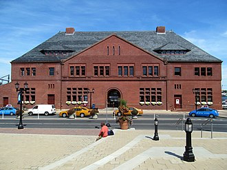 New London Union Station - Front view of New London Union Station in July 2012